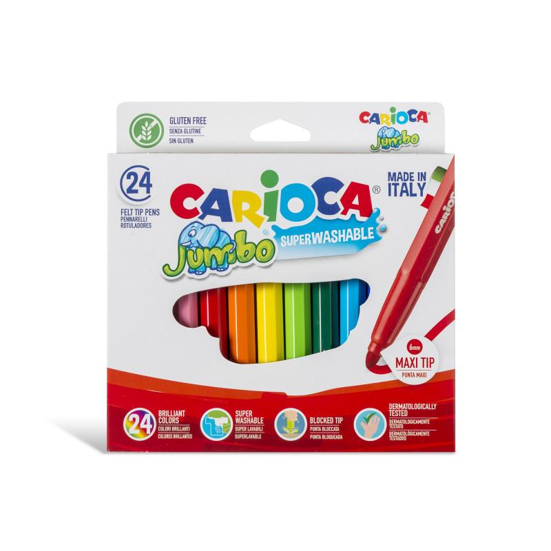 40570 - CARIOCA - Pennarelli Punta Maxi Jumbo - Rotuladores punta maxi - Maxi tip felt tip pens - Feutres pointe maxi
