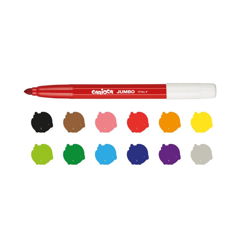 40569 - CARIOCA - Pennarelli Punta Maxi Jumbo - Rotuladores punta maxi - Maxi tip felt tip pens - Feutres pointe maxi