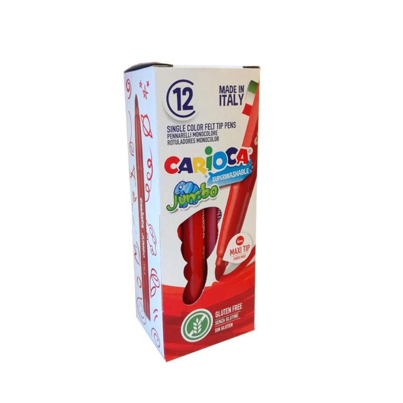 40130/03 - CARIOCA - Pennarelli Punta Maxi Jumbo - Rotuladores punta maxi - Maxi tip felt tip pens - Feutres pointe maxi