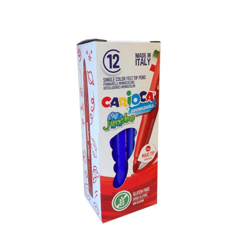 40130/02 - CARIOCA - Pennarelli Punta Maxi Jumbo - Rotuladores punta maxi - Maxi tip felt tip pens - Feutres pointe maxi