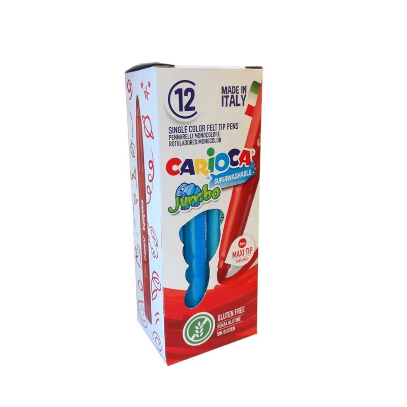 40130/10 - CARIOCA - Pennarelli Punta Maxi Jumbo - Rotuladores punta maxi - Maxi tip felt tip pens - Feutres pointe maxi