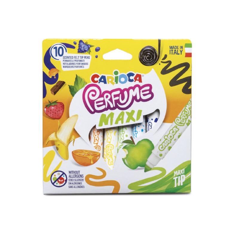 42989 - CARIOCA - Pennarelli Perfume Maxi 10 Pz - Rotuladores perfume - Felt tip pens perfume - Feutres perfume