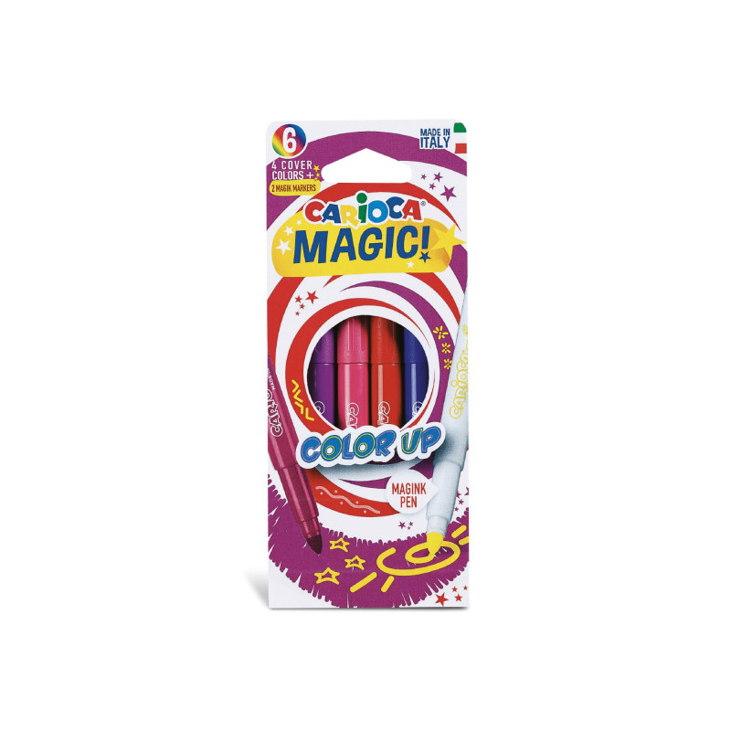 43047 - CARIOCA - Pennarelli Magici Color Up 6 Pz - Rotuladores mágicos - Magic Felt tip pens - Feutres magiques