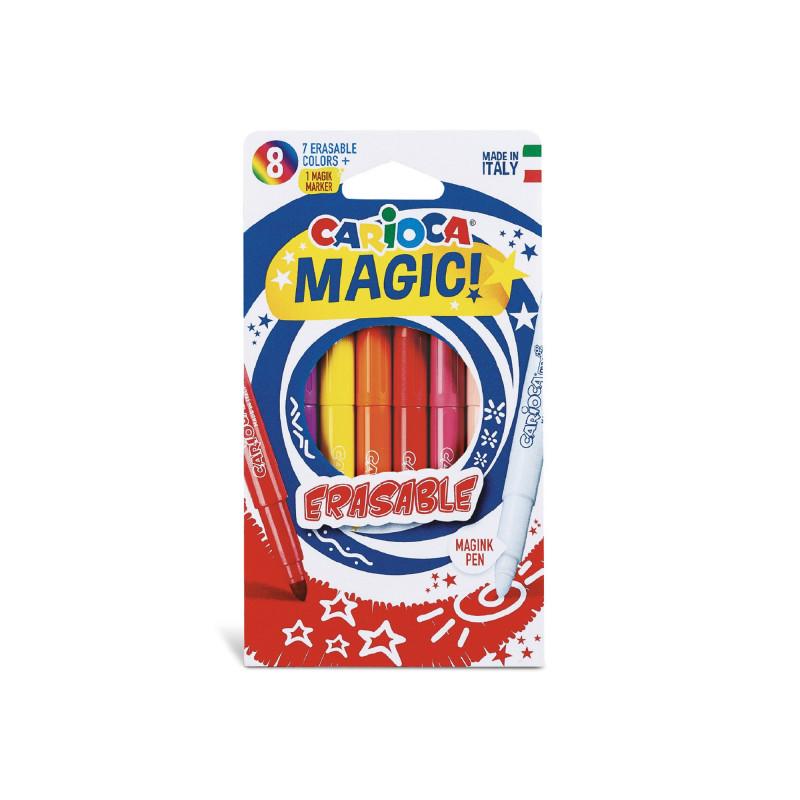 41239 - CARIOCA - Pennarelli Magici Erasable 8 Pz - Rotuladores mágicos - Magic Felt tip pens - Feutres magiques