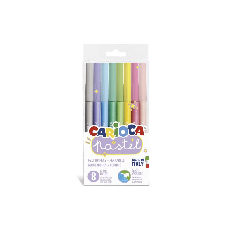 43032 - CARIOCA - Pennarelli Pastel 8 Pz - Rotuladores pastel - Felt tip pens pastel - Feutres pastel