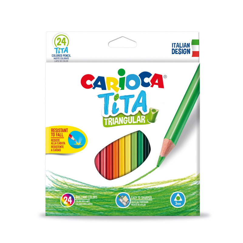 42787 - CARIOCA - Matite Colorate in Resina TITA 24 pz - Lápices - Pencils -  Crayons