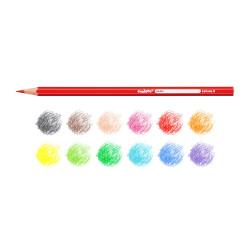 40380 - CARIOCA-  Matite Esagonali Colorate in Legno 12 pz - Lápices Hexagonales - Hexagonal Pencils - Crayons Hexagonal