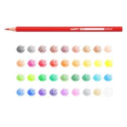 41875 - CARIOCA-  Matite Esagonali Colorate in Legno 36 pz - Lápices Hexagonales - Hexagonal Pencils - Crayons Hexagonal