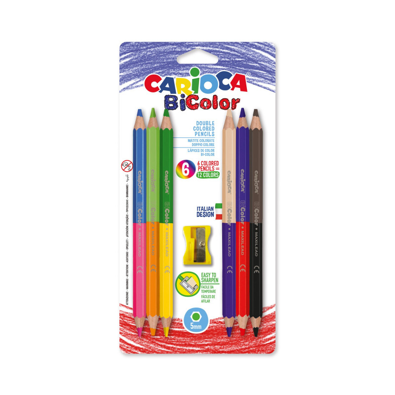 BI-COLOR Maxi Pencils 6 pcs