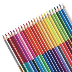 Matite Colorate in Legno Triangolari Bi-Color - 12 pz