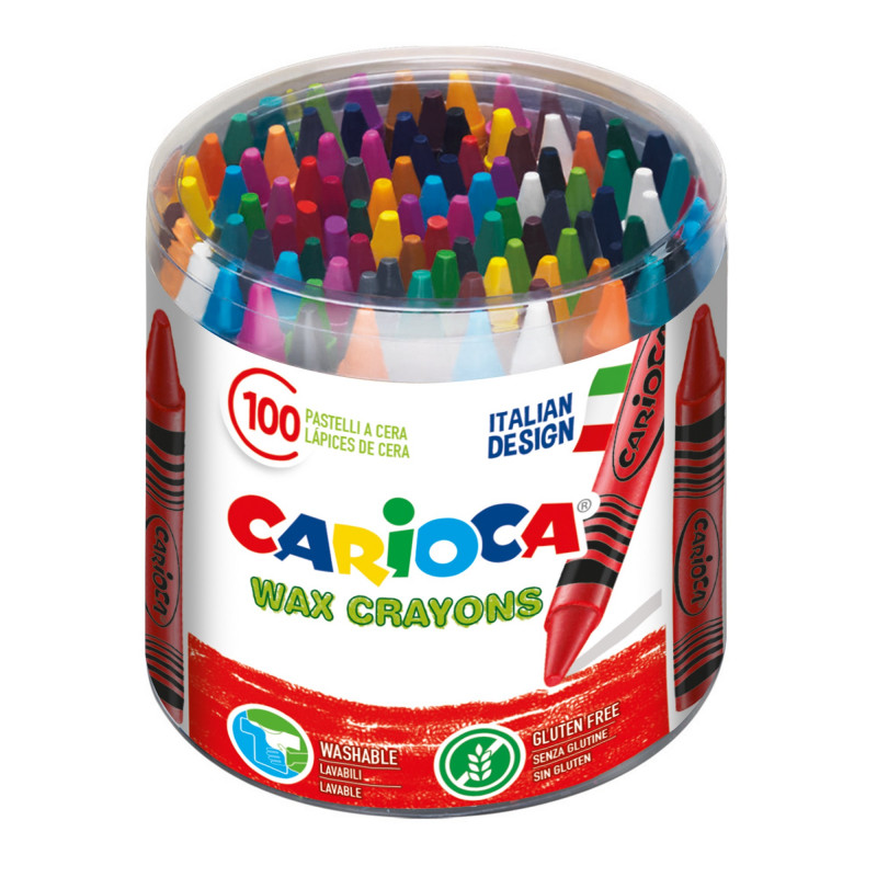 WAX Crayons 100 pcs