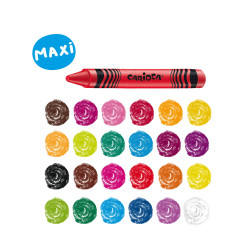 Pastelli Cera Maxi WAX - 24 pz