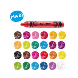 42390 - CARIOCA - Pastelli Cera Maxi  WAX 24 pz -Ceras - Wax Crayons - Pastels Wax