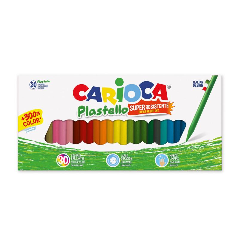42881 - CARIOCA - Pastelli Cera Resistenti PLASTELLO 12 pz - Plasticeras Resistentes - Resistant Crayons - Pastels Résistant