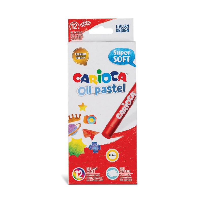43277 - CARIOCA - Pastelli Olio 12 pz - Pasteles al Óleo -  Oil pastels - Pastels à L'Huile