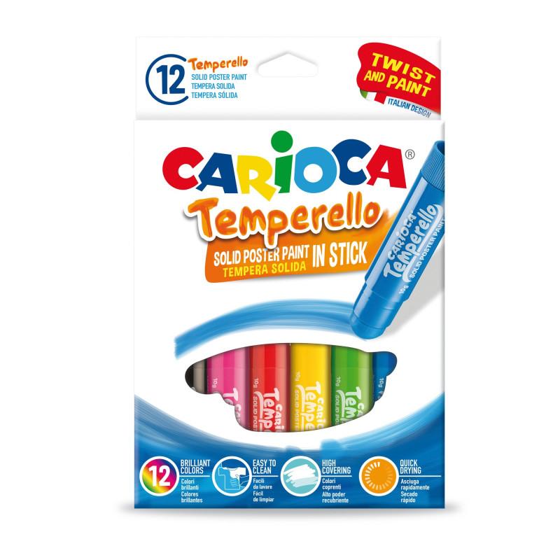 42738 - CARIOCA - Temperello 12 pz tempera solida - témpera sólida - solid tempera - tempera en stick