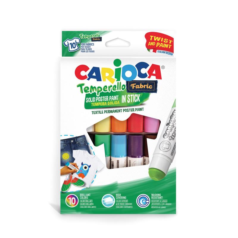 42324 - CARIOCA - Temperello fabric 10 pz tempera solida - témpera sólida - solid tempera - tempera en stick