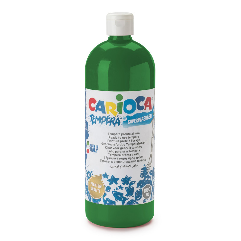 Tempera Pronta in bottiglia 1000 ml Verde Smeraldo - 1 pz