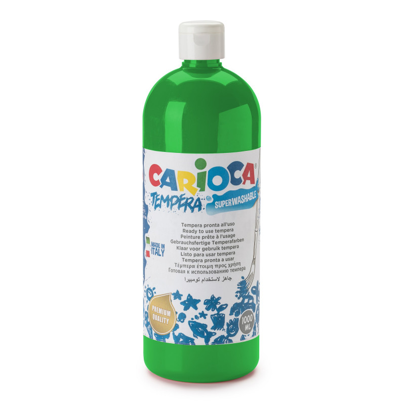 Tempera Pronta in bottiglia 1000 ml Verde Brillante - 1 pz