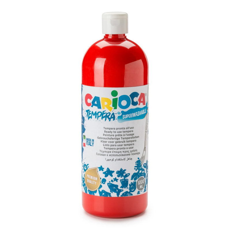 Tempera Pronta in bottiglia 1000 ml Rosso - 1 pz