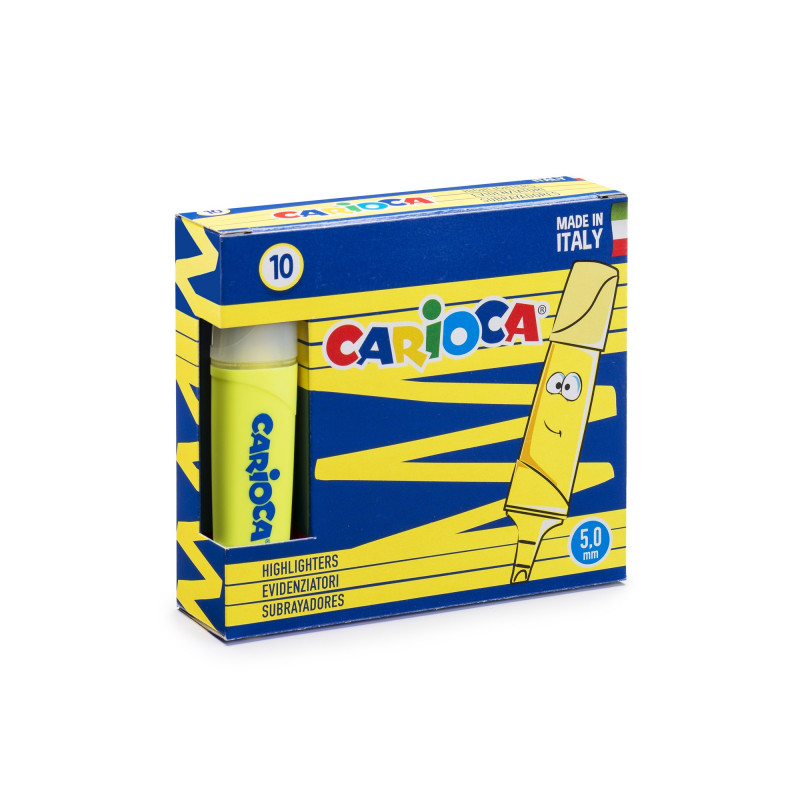 42875/34 - CARIOCA - Evidenziatori MEMOLIGHT Giallo 10 pz - Subrayadores - Highlighters - Surligneurs