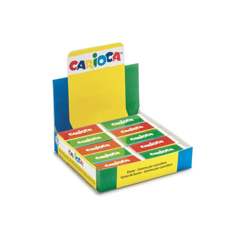 40150 - CARIOCA - Gomme Rettangolari Bianche 20 pz Display- Gomas - Erasers - Gommes