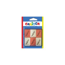 42863 - CARIOCA - Gomme Rettangolari Colorate e Bianche 6 pz - Gomas - Erasers - Gommes