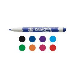 42920 - CARIOCA - Marcatore Lavagna Bianca Punta Fine Colori assortiti 8 pz - Rotuladores borrables - Markers - Marquers