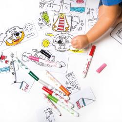 42895 - CARIOCA -Puzzle Combino pirates Baby +  8 Pennarelli - Puzle + rotuladores - Puzzle + felt tip pens - Puzzle + feutres