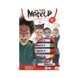 43052 - CARIOCA - Colori per la pelle MASK UP PARTY 6 pz - Colores para la piel - Face paint - Peintures pour le visage