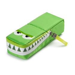 23280/04 - CARIOCA - Astuccio Vuoto GNAM POUCH Verde Coccodrillo - Estuche - Pencil case - Trousse