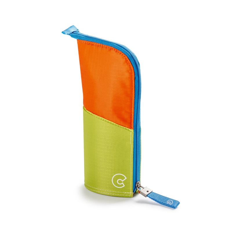23281/10 - CARIOCA - Astuccio Vuoto KIMONO Fluo Arancione Verde  e Azzurro - Estuche - Pencil case - Trousse
