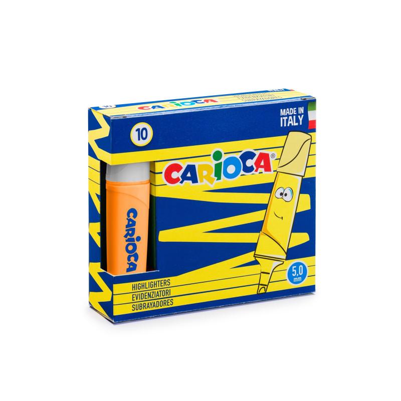 42875/35 - CARIOCA - Evidenziatori MEMOLIGHT Arancione 10 pz - Subrayadores - Highlighters - Surligneurs