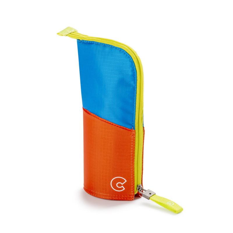 23281/05 - CARIOCA - Astuccio Vuoto KIMONO Fluo Blu Arancione e Giallo - Estuche - Pencil case - Trousse