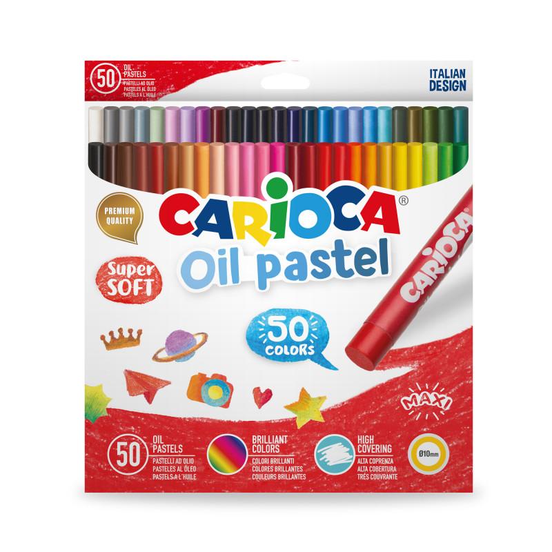 43286 - CARIOCA - Pastelli Olio 50 pz - Pasteles al Óleo -  Oil pastels - Pastels à L'Huile