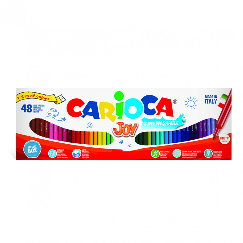 41020 - CARIOCA - ½ Metro Pennarelli Punta Fine Joy - Rotuladores punta fina - Fine tip felt tip pens - Feutres pointe fine