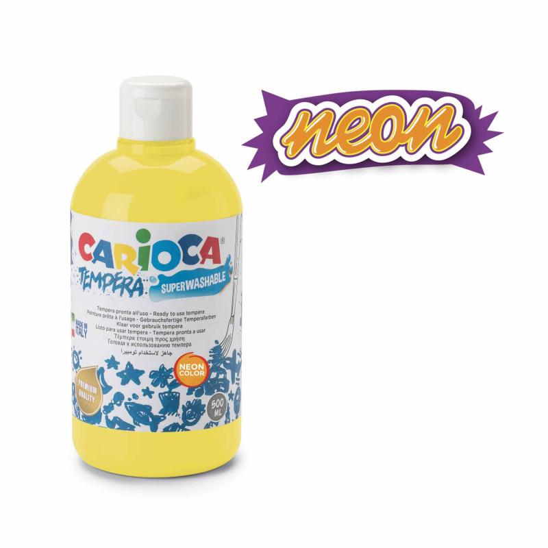 KO027/34 - CARIOCA - Tempera Giallo Neon 500 ml - Témpera - Tempera - Detempre