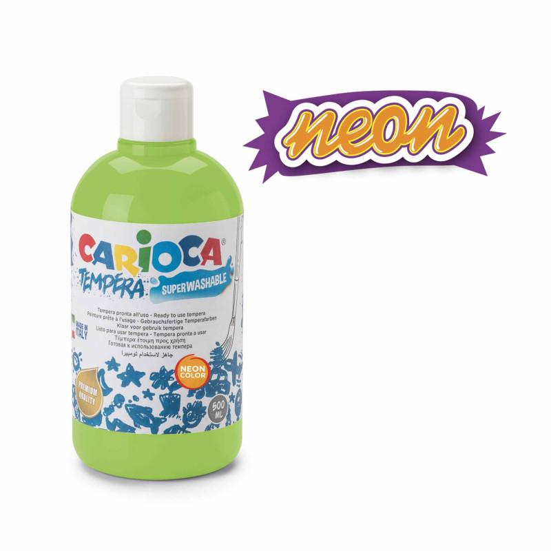 KO027/38 - CARIOCA - Tempera verde Neon 500 ml - Témpera - Tempera - Detempre