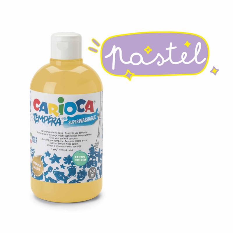 KO027/40 - CARIOCA - Tempera giallo Pastel 500 ml - Témpera - Tempera - Detempre