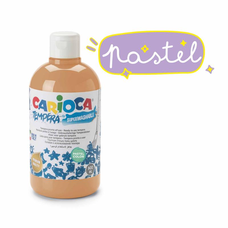 KO027/41 - CARIOCA - Tempera arancione Pastel 500 ml - Témpera - Tempera - Detempre