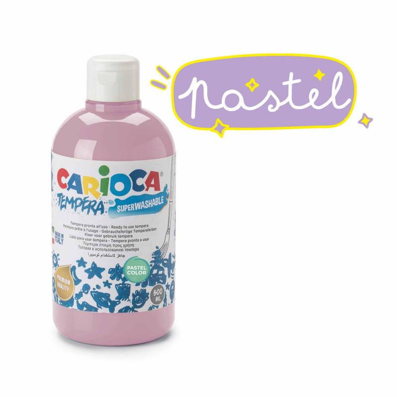 KO027/42 - CARIOCA - Tempera Rosa Pastel 500 ml - Témpera - Tempera - Detempre