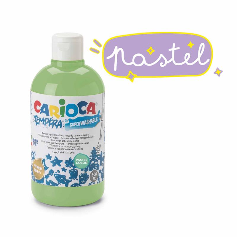 KO027/43 - CARIOCA - Tempera verde Pastel 500 ml - Témpera - Tempera - Detempre