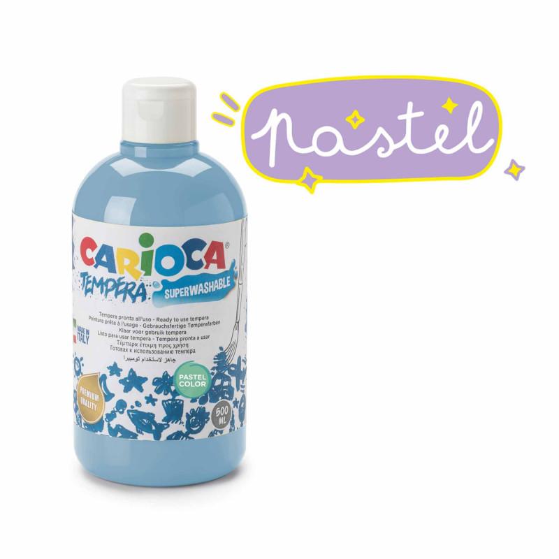 KO027/44 - CARIOCA - Tempera Azzurro Pastel 500 ml - Témpera - Tempera - Detempre