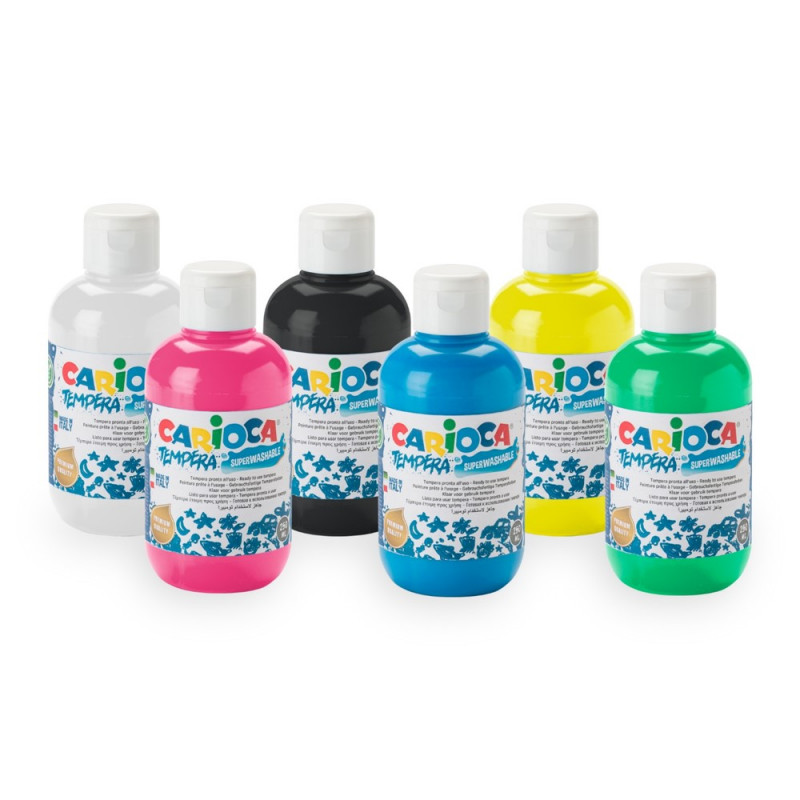 50025 - CARIOCA - Tempera Set 250 ml 6 Pz - Témpera Set - Tempera Set - Detempre Set