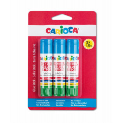 42781 - CARIOCA - Colla Stick 10 gr 3 pz - Pegamento de Barra - Glue Stick - Bâtons de Colle