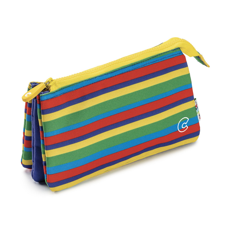 23284/LINES - CARIOCA - Astuccio Multi-Tasche Righe - Estuche Multi-Espacio - Multi-Pocket Pencil Case - Trousse Multi-Poches