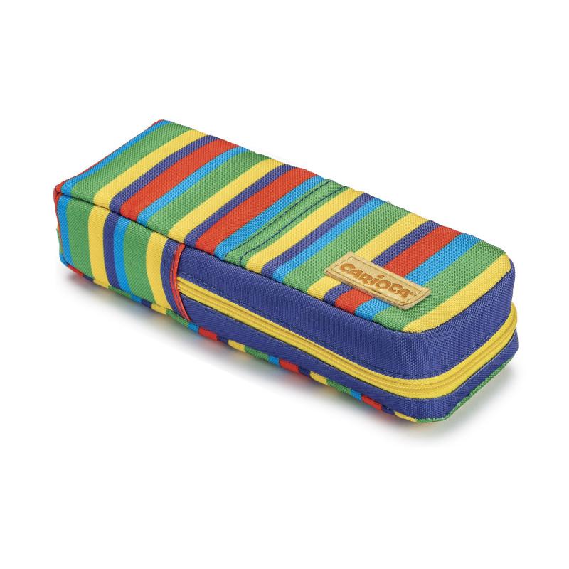 23285/LINES - CARIOCA - Astuccio Groovi Pouch Righe - Estuche Groovi Pouch - Pencil Case Groovi Pouch - Trousse Groovi Pouch