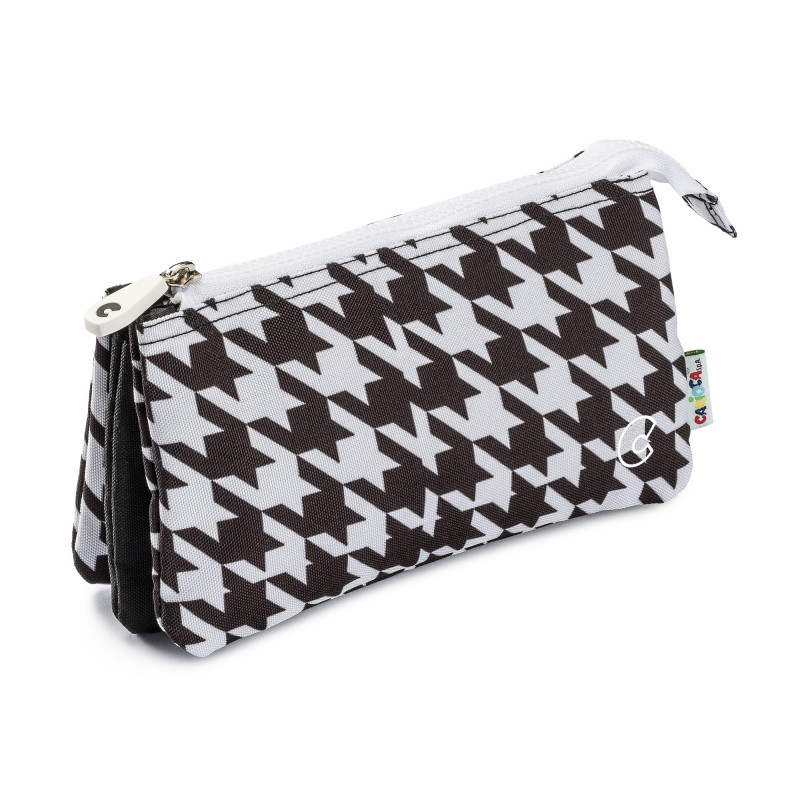 23284/PIEDPOULE - CARIOCA - Astuccio Multi-Tasche - Estuche Multi-Espacio - Multi-Pocket Pencil Case - Trousse Multi-Poches