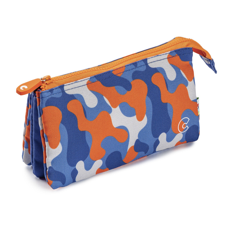 23284/CAMUFLAJE - CARIOCA - Astuccio Multi-Tasche - Estuche Multi-Espacio - Multi-Pocket Pencil Case - Trousse Multi-Poches