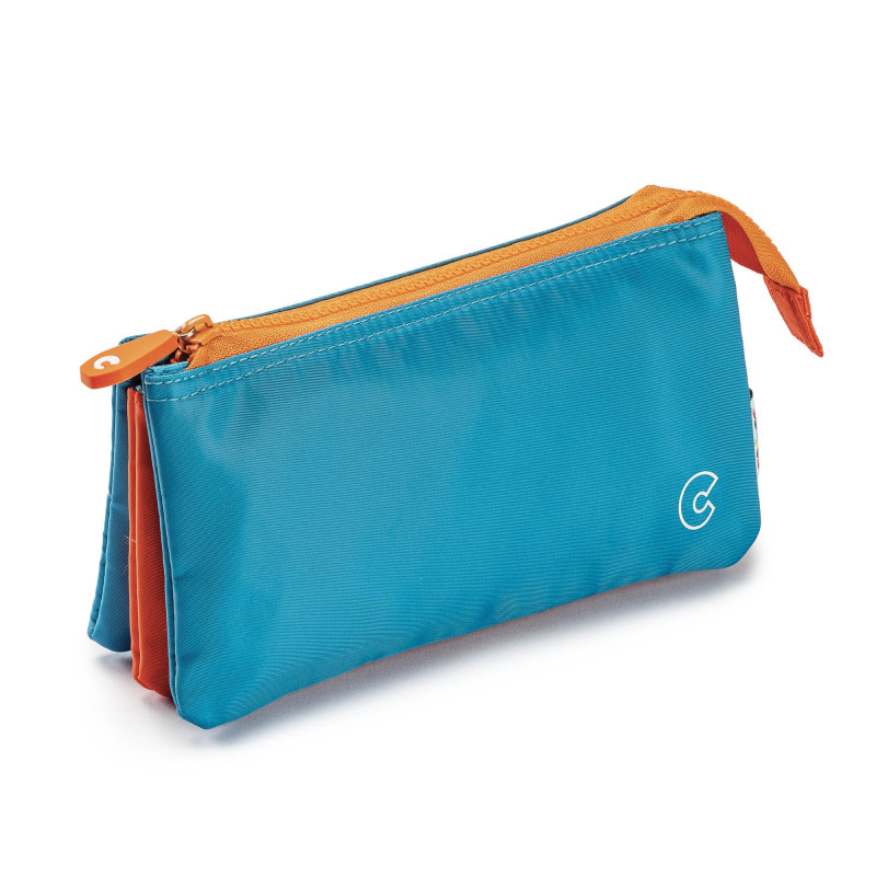 23284/Blu - CARIOCA - Astuccio Multi-Tasche - Estuche Multi-Espacio - Multi-Pocket Pencil Case - Trousse Multi-Poches